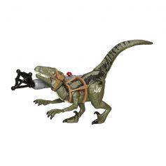 Hasbro Jurassic World Bashers & Biters Velociraptor Blue Figure
