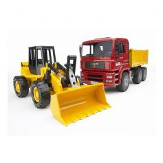 Bruder Truck With Bulldozer