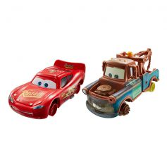 Disney Cars Mater with no Tires & Lighthing McQueen with no tires