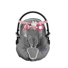 Tiamo Miffy Denim Car Seat Toy Pink