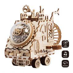 Robotime Steampunk Music Box-Spaceship