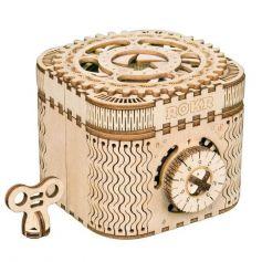Robotime 3D Wooden Puzzle Model Building kits Treasure Box