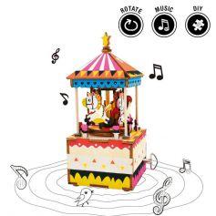 ROBOTIME DIY Music Box-Merry-Go-Round