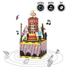 ROBOTIME DIY Music Box-Phone Booth