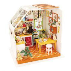 ROBOTIME DIY Dollhouse Kit-Jason's Kitchen