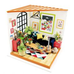 ROBOTIME DIY Dollhouse Kit-Locus's Sitting Room with LED light