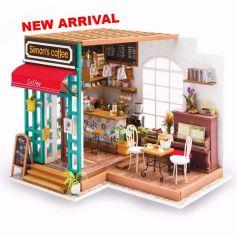 ROBOTIME DIY Dollhouse Kit-Simon's Coffee NEW ARRIVAL