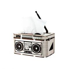 ROBOTIME DIY DESK ORGANIZER Rock Radio-Tissue Box