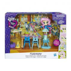 My Little Pony Minis Fluttershy School Cafeteria Set