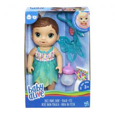 Baby Alive Face Paint Fairy Brunette Doll