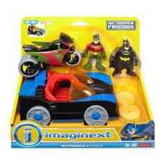 Imaginext Batman Batmobile and Cycle Vehicle