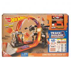 Hot Wheels Track Builder Construction Crash Playset
